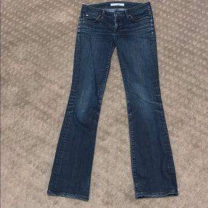 strait leg jeans